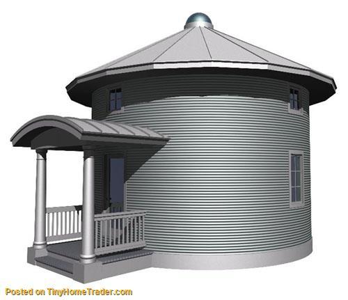 Grain bin cabin house plans silo grain bin home plans Silo home plans